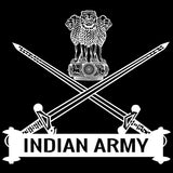 Indian Army Logo Half Sleeve Black