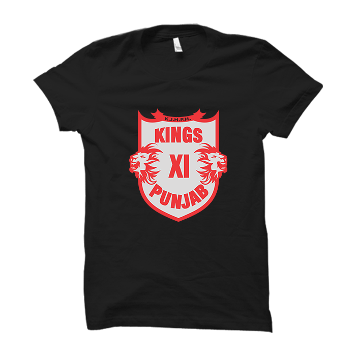 IPL 04 - Kings XI Punjab -Half Sleeve Black