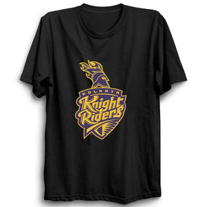 IPL KKR Kolkata Knight Riders-Half Sleeve Black