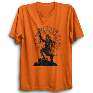 Om Namah Shivaya -Half Sleeve Orange