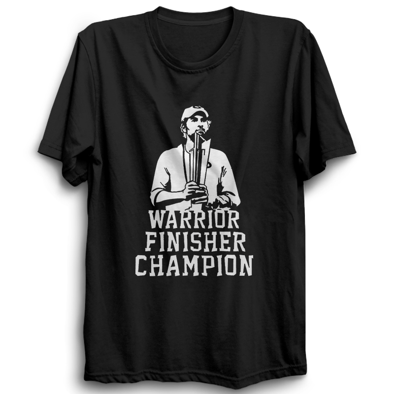 CRIC 48 - Warrior Finisher Champion Yuvraj -Half Sleeve-Black