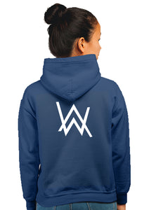 Alan Walker Superhero Unisex 100% Cotton Printed Hoodie (Navy Blue)