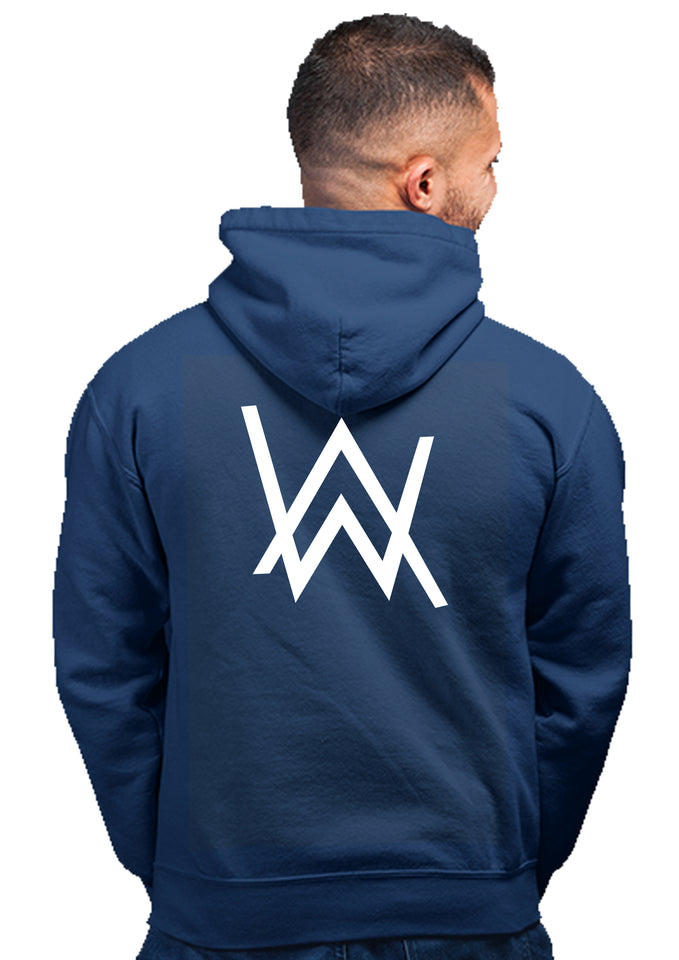 100% Cotton Printed Hoodie (Navy Blue)