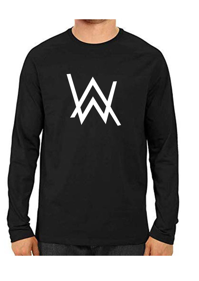 unisex Alan Walker Full Sleeve Black Full Sleeve Cotton Tshirts