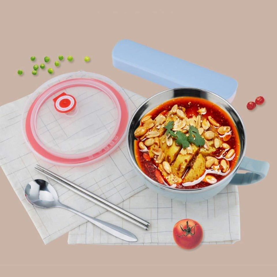 NOODLES BOWL STAINLESS STEEL LARGE RICE SOUP CONTAINER 900 ML