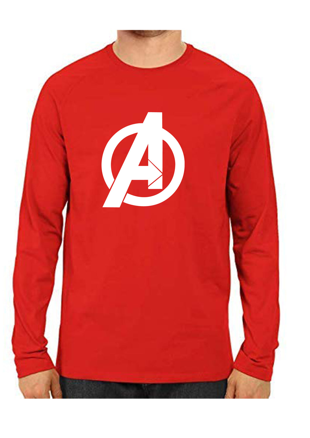 unisex Avenger red Full Sleeve Cotton Tshirts
