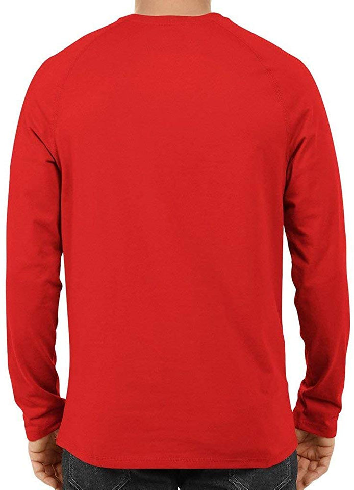 Unisex MarshMellow Red Full Sleeve Cotton  Tshirts
