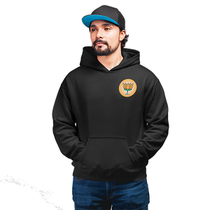 Unisex BJP Logo  100 % Cotton Printed Hoodies In Black Color