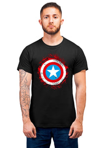 Captain America 3 Half Sleeve Black