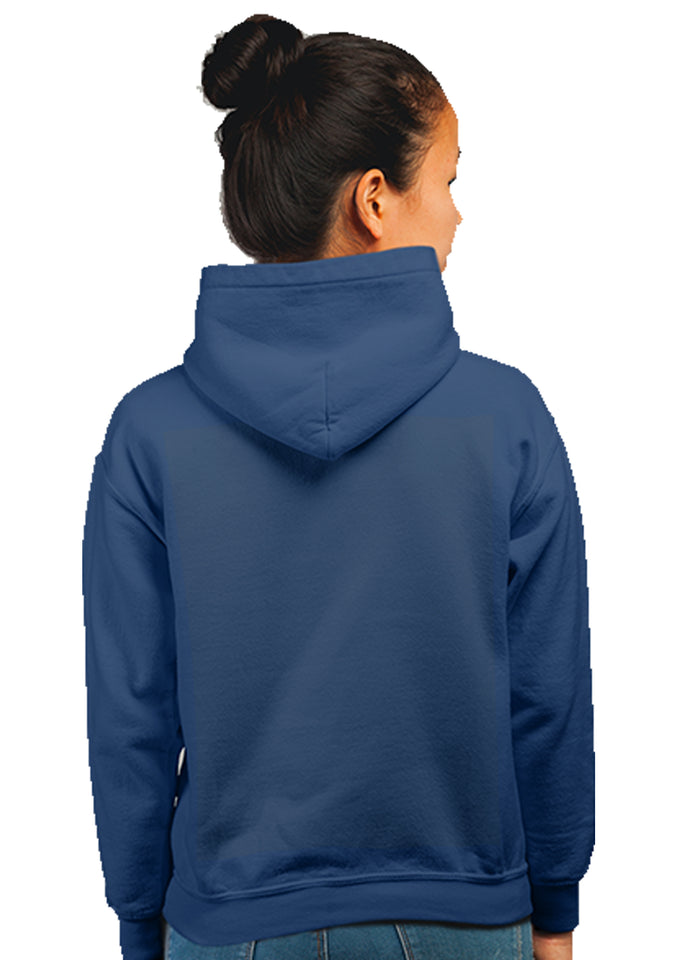 Marshmellow Unisex 100% Cotton Printed Hoodie (Navy Blue)