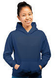 100% Cotton Printed Hoodie (Navy Blue) | Print Bharat