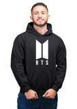 K-pop BTS Unisex 100% Cotton Printed Hoodie (Black)