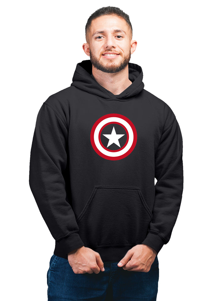 Captain America Superhero Unisex 100% Cotton Printed Hoodie