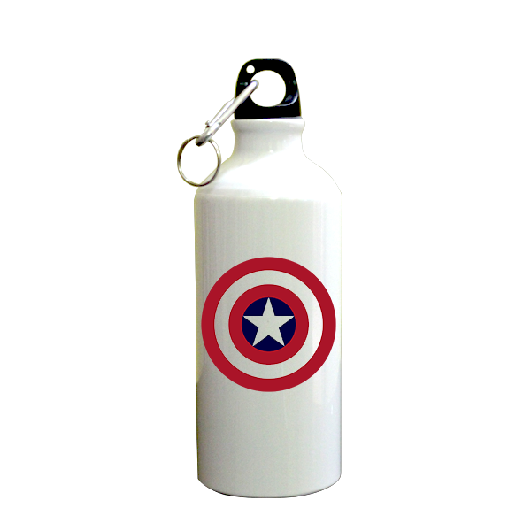 Captain America SuperHero Printed Sipper (600ml, Aluminium)