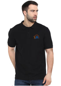 Chennai Super King Polo Half Sleeve Black