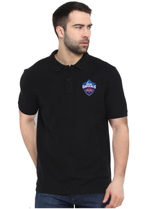 Delhi Capitals Polo Half Sleeve Black