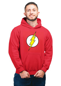 Flash Superhero Unisex 100% Cotton Printed Hoodie