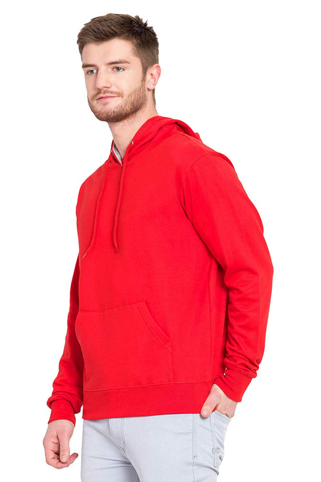 100 % Cotton Hoodies For Men | Red Color