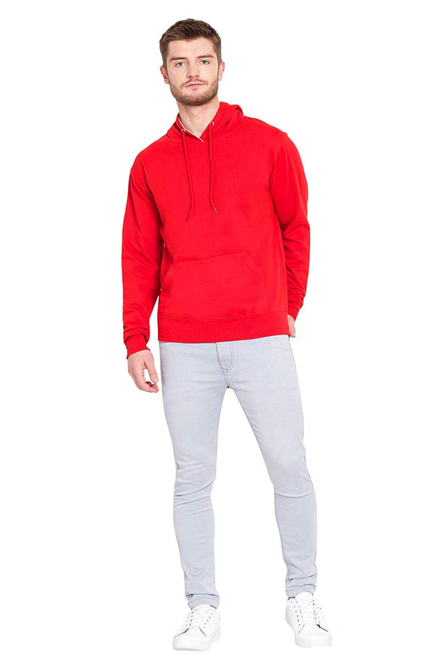 100 % Cotton Hoodies For Men In Red Color | Printbharat
