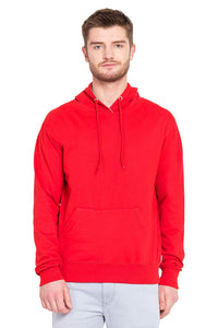 100 % Cotton Hoodies For Men In Red Color