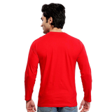 Unisex Namo Again Modi 100 % Cotton Printed Full Sleeves Tshirt In Red Color