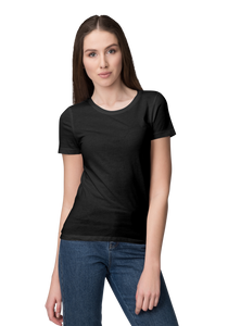 Unisex Basic Plain Black T-shirt