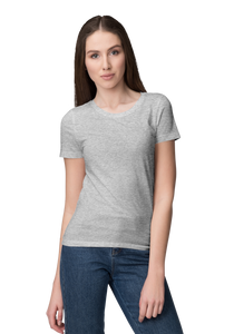 Unisex Basic Plain Grey T-shirt