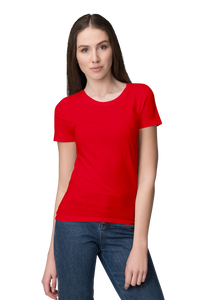 Unisex Basic Plain Red T-shirt