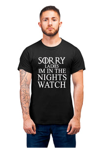 Got-16 Sorry Ladies Im In The Nights Watch Half Sleeve Black
