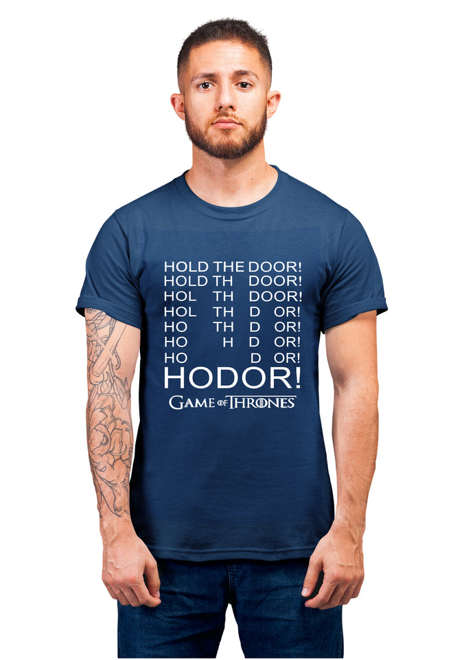 GOT-23 HODOR HODOR Half Sleeve Navy Blue