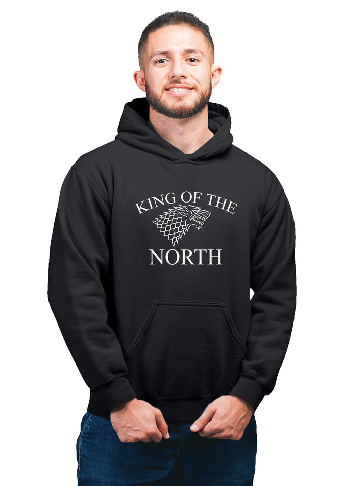 GOT-26 King Of The North BLACK HOODIE Unisex 100% Cotton Printed Hoodie ( Black)