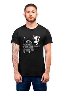 Got-43 A Lion Does Not Half Sleeve Black