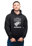 GOT-46 House Stark Winterfell Black Hoodie Unisex 100% Cotton Printed Hoodie(Black)