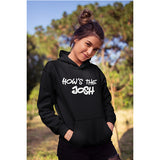 Unisex How's The Josh 100 % Cotton Printed Hoodies In Black Color