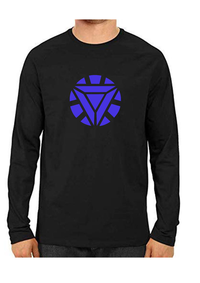 unisex IronMan Blue Full Sleeve Cotton  Tshirts