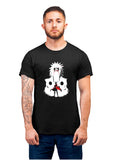 Unisex Jiraya Half Sleeve Cotton Black Tshirts