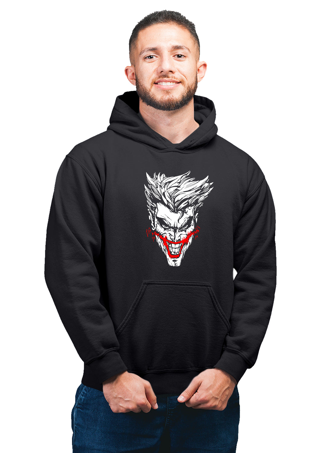 Joker Superhero  Unisex 100% Cotton Printed Hoodie