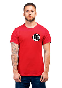Unisex Kame Symbal Half Sleeve Cotton Red Tshirts