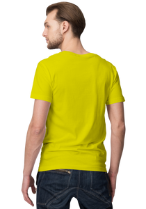 Unisex Basic Plain Yellow T-shirt