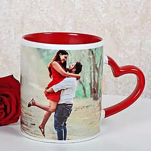 PERSONALIZED RED CERAMIC MUG