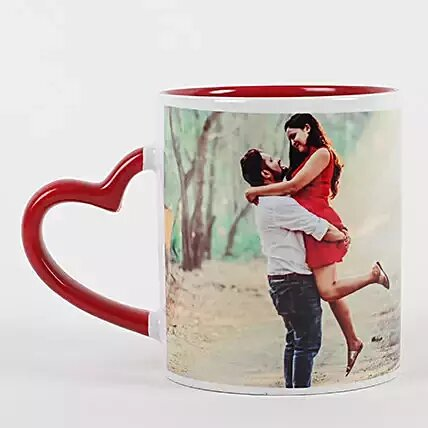 PERSONALIZED RED CERAMIC MUG | Print Bharat