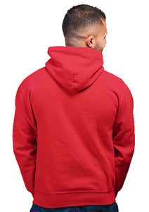 K-pop BTS Unisex 100% Cotton Printed Hoodie (Red)