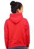 Marshmellow Unisex 100% Cotton Printed Hoodie (Red)