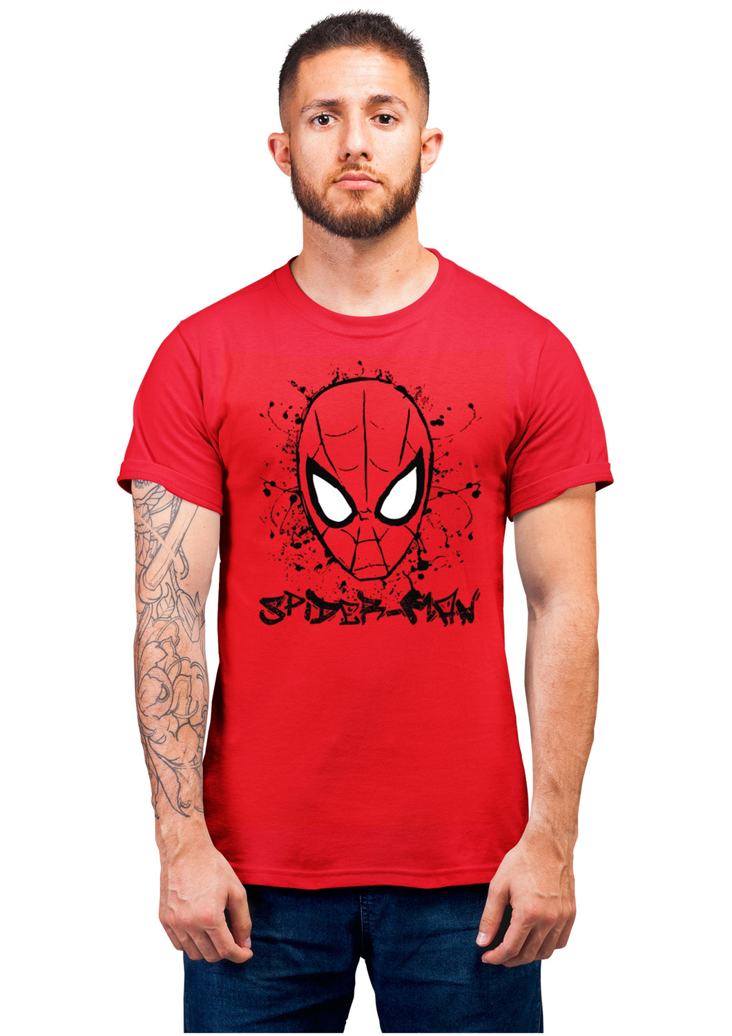 Spiderman2 Half Sleeve Red