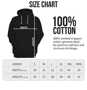 Marshmellow Unisex 100% Cotton Printed Hoodie (Black)