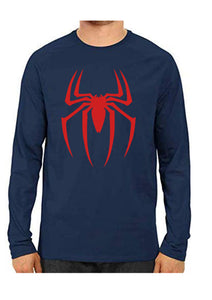 Unisex Spider Blue Full Sleeve Cotton  Tshirts