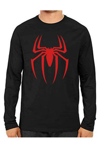 Unisex Spider Black Full Sleeve Cotton  Tshirts