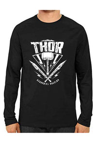 Unisex Thor Black Full Sleeve Cotton  Tshirts