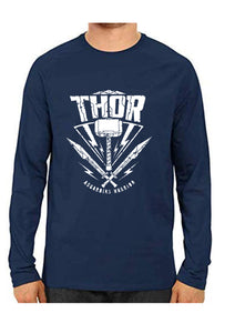 Unisex Thor Blue Full Sleeve Cotton  Tshirts