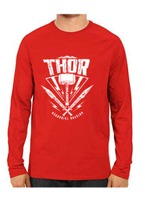 Unisex Thor Red Full Sleeve Cotton  Tshirts